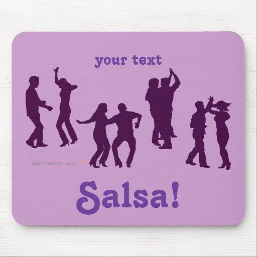 Salsa Dancing Poses Silhouettes Custom Mousepad