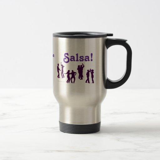 Salsa Dancing Poses Silhouettes Custom Coffee Mugs