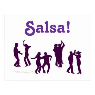 Salsa Dancing Poses Silhouettes Custom Postcards