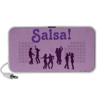 Salsa Dancing Poses Silhouettes Custom PC Speakers