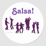 Salsa Dancing Poses Silhouettes Custom Sticker