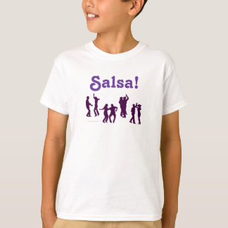 Salsa Dancing Poses Silhouettes Custom T-Shirt
