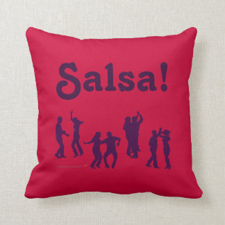 Salsa Dancing Poses Silhouettes Custom Throw Pillow