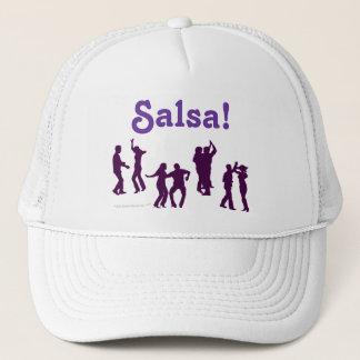 Salsa Dancing Poses Silhouettes Custom Trucker Hat