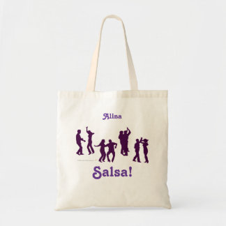 Salsa Dancing Poses Silhouettes Personalized Tote Budget Tote Bag