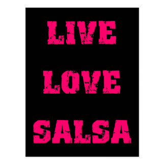 Salsa dancing postcard