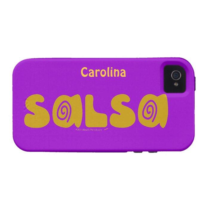 Salsa Dancing Swirls Custom Name iphone 4g Case