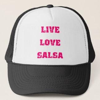 Salsa dancing trucker hat