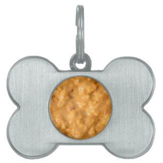 Salsa de queso placa mascota