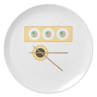 Salsa de soja del sushi platos para fiestas