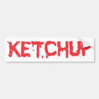 salsa de tomate etiqueta de parachoque