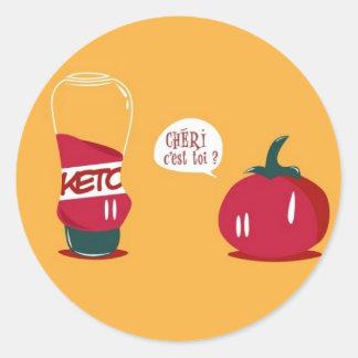 Salsa de tomate etiqueta