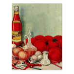 Salsa de tomate italiana de las pimientas de las c postal