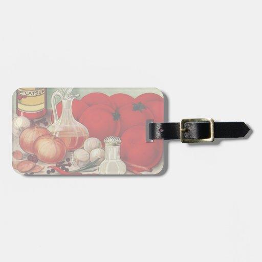 Salsa de tomate italiana de las pimientas de las etiqueta para maleta