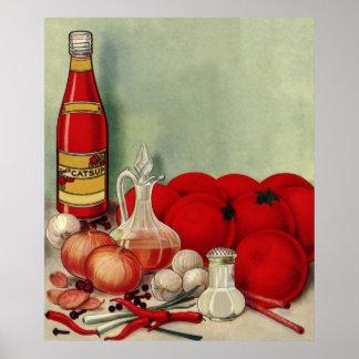 Salsa de tomate italiana de las pimientas de las póster