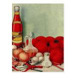 Salsa de tomate italiana de las pimientas de las postal