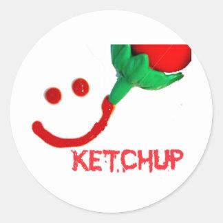 salsa de tomate etiquetas redondas
