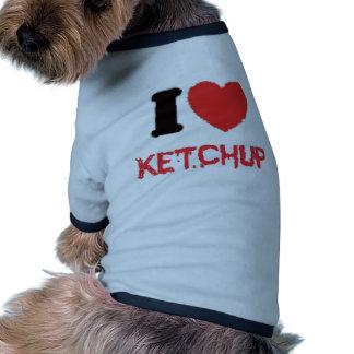 salsa de tomate camiseta de perro