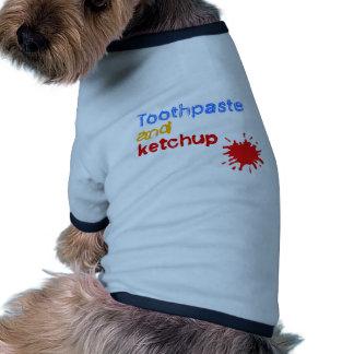 salsa de tomate camisetas de mascota