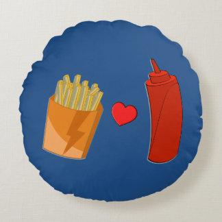 Salsa de tomate y almohada de las fritadas - cojín redondo