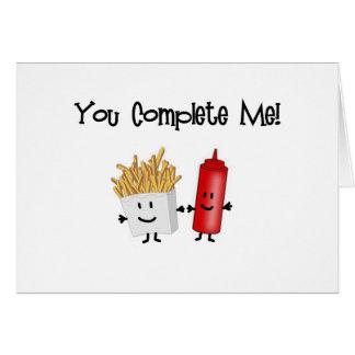 ¡Salsa de tomate y fritadas! Tarjeta De Felicitación