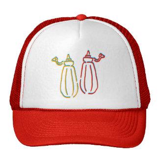 Salsa de tomate y gorra de la mostaza