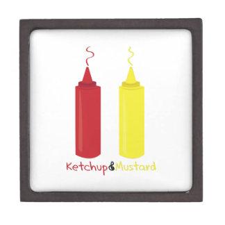 Salsa de tomate y mostaza cajas de recuerdo de calidad