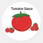 Salsa de Tomatoe Etiquetas Redondas
