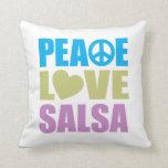 Salsa del amor de la paz almohadas