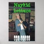 Salsa del mac, poster de la lechuga de Naykid