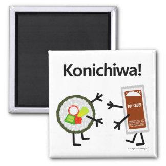 ¡Salsa del sushi y de soja - Konichiwa! Iman
