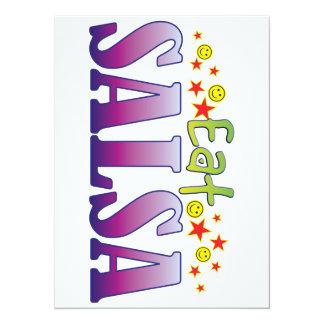 Salsa Eat 5.5x7.5 Paper Invitation Card