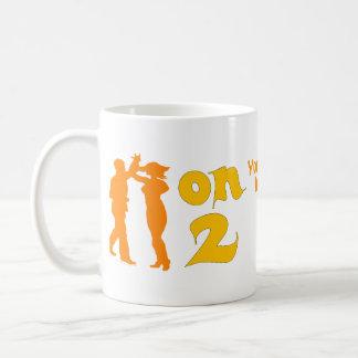 Salsa en dos siluetas de baile adaptables tazas de café