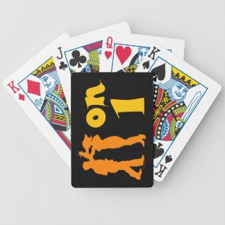 Salsa en los naipes latinos de los bailarines de cartas de juego