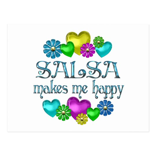 Salsa Happiness Postcard