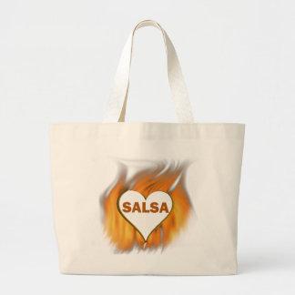 SALSA HEART ON FIRE JUMBO TOTE BAG