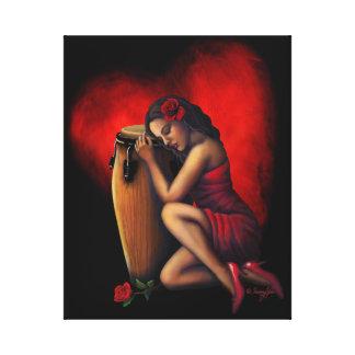 Salsa Heartbeat Canvas Print