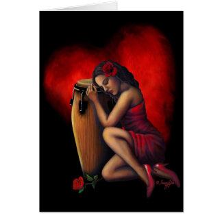 Salsa Heartbeat Card