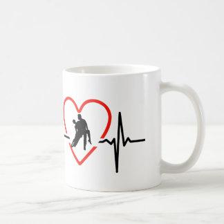salsa heartbeat design coffee mug