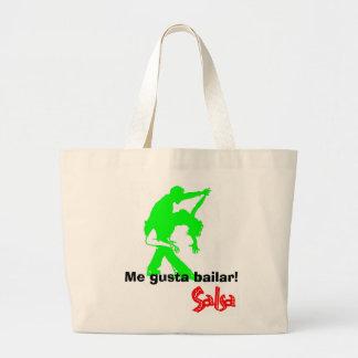 Salsa! Large Tote Bag