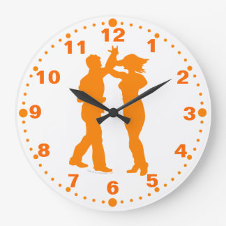 Salsa Latin Dance Spin Wall Clock With Minutes