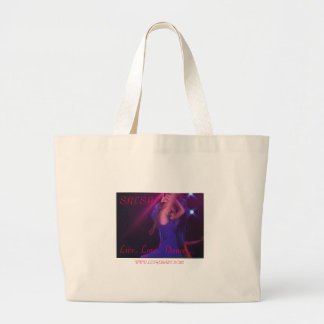 SALSA!, Live, Love, Dance..., WWW.LETHER... Large Tote Bag