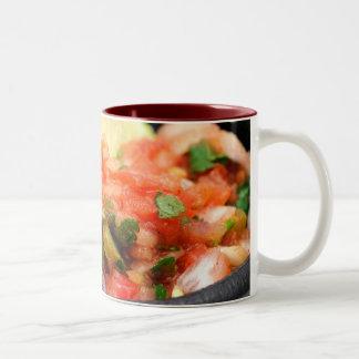 Salsa mexicana taza de café