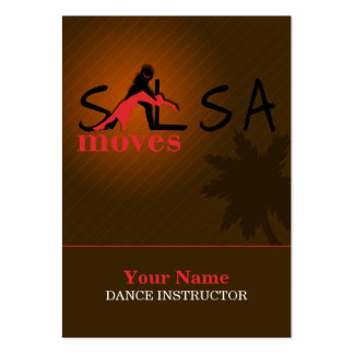 Salsa Moves - Business-, Schedule Card Large Business Card