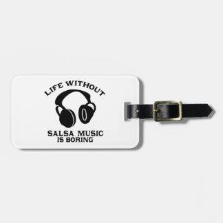 Salsa Music designs Luggage Tag