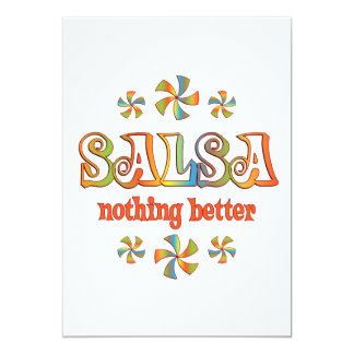 Salsa Nothing Better 5x7 Paper Invitation Card