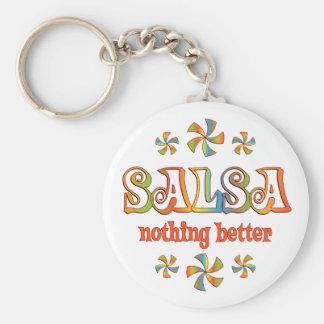Salsa Nothing Better Basic Round Button Keychain