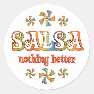 Salsa Nothing Better Classic Round Sticker