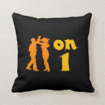 Salsa on One Dancers Silhouettes Throw Pillow