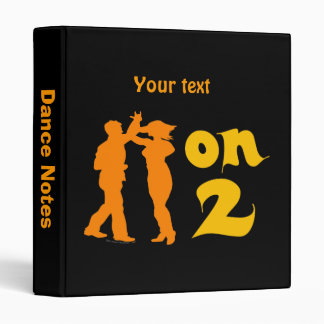 Salsa On Two Dancing Silhouettes Customizable 3 Ring Binder